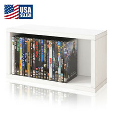 Media Storage Rack Shelf Organizer 30 Dvd BluRay PlayStation Ps4 Ps5 Xbox, White