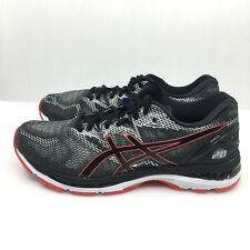 cac3ea25ae2551 ASICS T800n 002 GEL Nimbus 20 Black   Red Men s Running Shoes Size 9.5 US