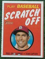 2020 Topps Heritage PAUL GOLDSCHMIDT #7 Play Baseball Scratch Off CARDINALS
