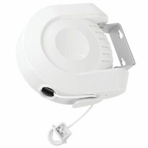 mDesign Portable Retractable Clothesline, Adjustable 39ft Single Line - White