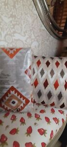 Catherine Lansfield aztec design double bed duvet set and matching cushion