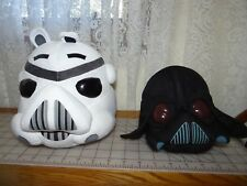 "Star Wars Angry Birds 5"" Plush Toys Darth Vader Storm trooper Pigs"