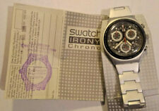 swatch irony chrono aluminium nero raro vintage watch - uomo -