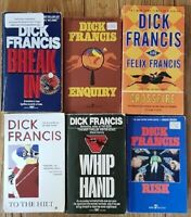 Lot of 6 DICK FRANCIS PAPERBACK Books --FREE SHIPPING