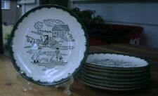 Vintage ROYAL CHINA Countryside Underglaze SPRING (1) Bread/Butter PLATE