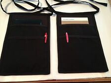 2 Black Hip Side Aprons For One price Bartender Restaurant Classyaprons