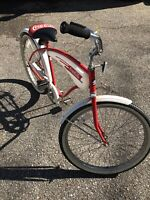 VINTAGE HUFFY 1982 COCA COLA PROMOTION BICYCLE ALL ORIGINAL RUN GREAT SUPER COOL