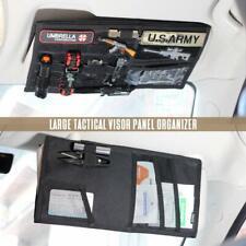 Автомобиль Molle Tactical солнцезащитный козырек панель органайзер, чехол держатель для транспортного средства мешочек Bk