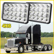"2x LED Headlight 4x6"" High/Low Sealed Beam Spotlight Fog Driving Light Truck Car"