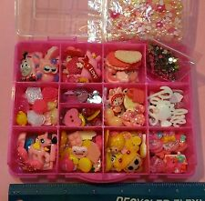 Starter Kit Resin Flatback Kawaii Cabochon Lot DIY Bow decoden Phone 150+ pcs!!