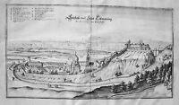 Schloß Tittmoning Traunstein Bayern  Merian Kupferstich der Erstausgabe 1644
