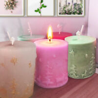 3D Christmas Tree Deer Candle Molds Silicone Fondant Icing Soap Mould 78 * 69mm