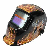 Welding Helmet Solar Auto Darkening MIG TIG ARC Welder Mask Flame And Girl M0X3