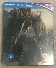 The Hobbit - Desolation Of Smaug - 2D & 3D - Steelbook - Blu-ray - NEW