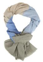 Ella Jonte Men's Scarf Blue or Green Lightweight Cotton Scarf Spring Summer