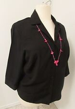 JM Collection Size 2X 3/4 Sleeve Black Top Macy's.     180