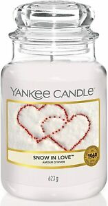 Yankee Candle Scented Candle | Snow In Love Large Jar Candle | Burn Time: 150 Hr