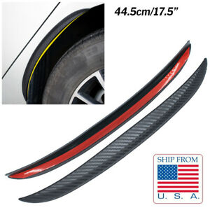 44cm Mud Flaps Splash Guard Arch extension Mudflaps Carbon Fiber Universal