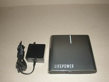 Portable External Power Bank with USB Wall Plug Outlet LIFEPOWER A2 L 27000mAh