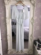 Asos Mint Light Green Lace Maxi Dress Size 10