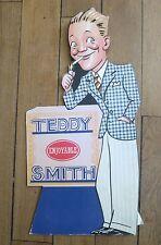 TEDDY SMITH ancienne publicité découpée cartonnée  de comptoir