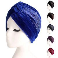 Women Turban Hat Muslim Chemo Cap Hijab Arab Head Scarf Wrap Cover India Islamic