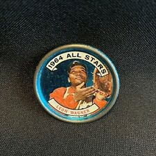 Vintage 1964 All Stars outfielder Leon Wagner baseball metal coin button $ Rare