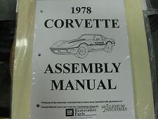 1978 78 CORVETTE (ALL MODELS) ASSEMBLY MANUAL