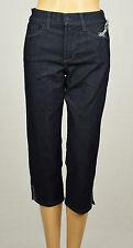 NYDJ Ariel Mujer Oscuro Enzima Corto Adornado Capri Jeans 0