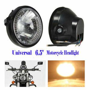 "Universal 6.5"" Motors Headlight For Harley Honda Yamaha Suzuki LED Turn Signal"