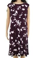Lauren by Ralph Lauren Womens Dress Purple Size 14P Petite Sheath $119- 260