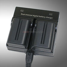 Dual Charger +2x Battery for Sony NP-FM500H Alpha A850 A900 A57 A65 A77 A99 A560