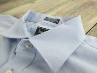 Neiman Marcus Men's Dress Shirt  Lt Blue 80's 2 Ply Wrinkle Free Size 16.5-34/35