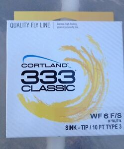 Cortland 333 Classic WF6F/S Sink-Tip 10ft Type 3 Fly Line
