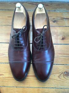 JOHN LOBB Oxford/Richelieu marron-brown/Bordeaux taille 8,5 E (42,5)