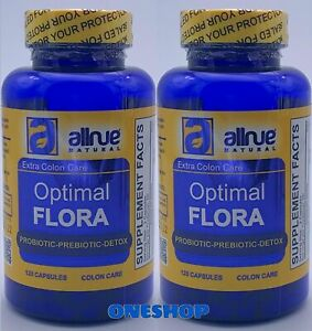 2 Colon Care Optimal Flora Prebiotic Detox Plus Body Cleanse Digestive Pills