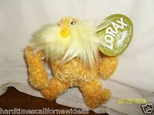 "Dr Seuss Lorax Plush Yellow 6"" With Tag"