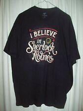 Tee Fury Size XL - I believe in Sherlock Holmes - black TeeFury shirt