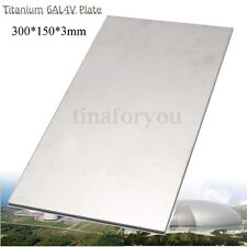 3mm Thick Silver Industrial Titanium 6AL4V Metal Plate Sheet 12 x 6 x 0 .125""