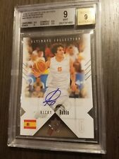 2010-11 Ricky Rubio Ultimate Collection Auto Autograph Rookie RC BGS 9 #61/75