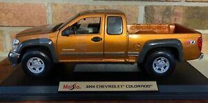 2004 CHEVY COLORADO Z71 4X4 NEW RARE FIND MAISTO 1:18 SPECIAL EDITION ORANGE