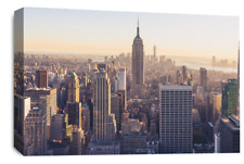 Le Reve New York Skyline Wall Art Empire State City Canvas Picture Print 30 x 20