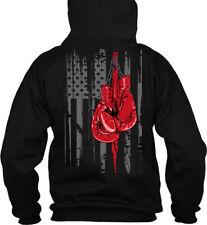 Boxing Flag Gildan Hoodie Sweatshirt