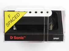 DiMarzio F-spaced D-Sonic Bridge Humbucker Black/White Bobbins DP 207