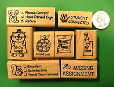 Teachers' Rubber Stamp Set of 8: great timesavers!