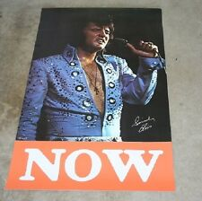 "Elvis Presley Original Las Vegas Hilton ""NOW"" All Star Shows Banner circa 1972"