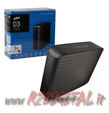 "HARD DISK SAMSUNG 3TB USB 3.0 ESTERNO HD 3,5"" 3000 Gb 3 TERA MUSICA MULTIMEDIAL"
