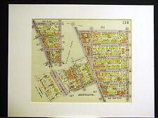 Brooklyn Map 1929 Matted Highland Barbey Jamaica Arlington Celeveland Schenck