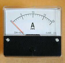 0- 20A DC Ammeter Analogue Panel Amp Meter Analog NEW