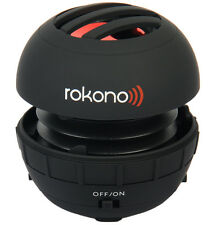 Rokono BASS+ Mini Speaker for iPhone/iPad/ iPod / MP3 Player / Laptop - Black